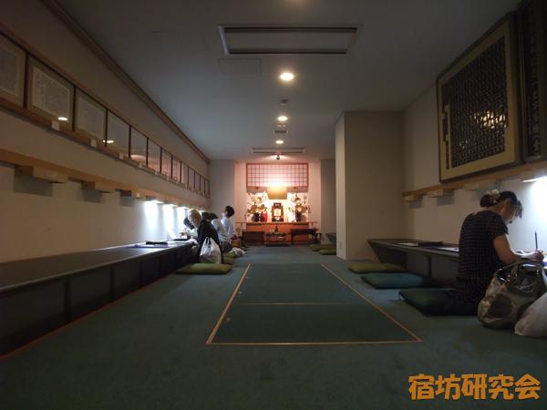 深川不動堂の写経・写仏室