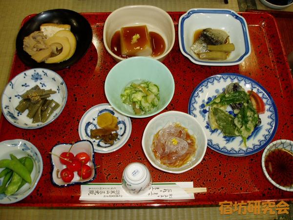 三光院の夕食