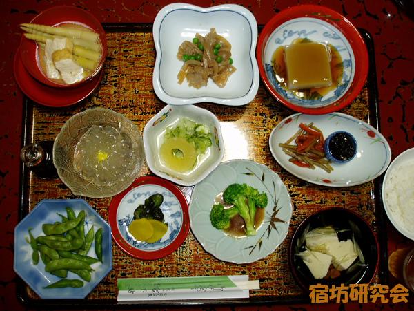 宮下坊の夕食