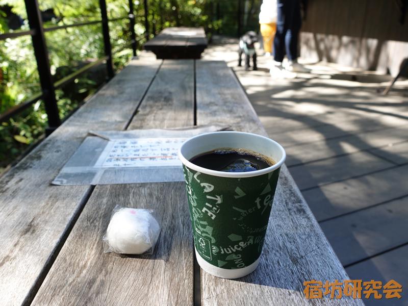 等々力不動尊の不動饅頭とアイスコーヒー