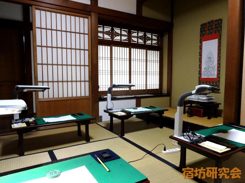 成田山新勝寺の写経室