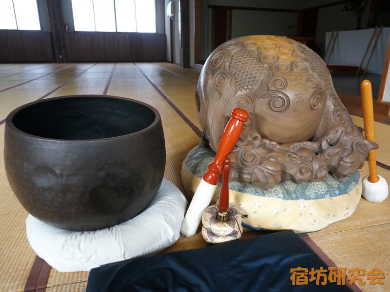青少年文化研修道場の木魚