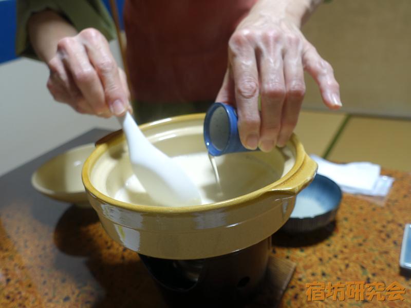 古宮旅館の夕食(寄せ豆腐)