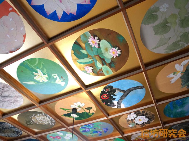 当麻寺中之坊の天井絵