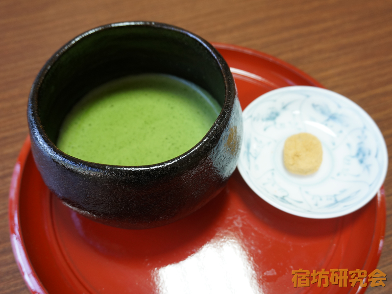 宝寿院のお抹茶とお菓子