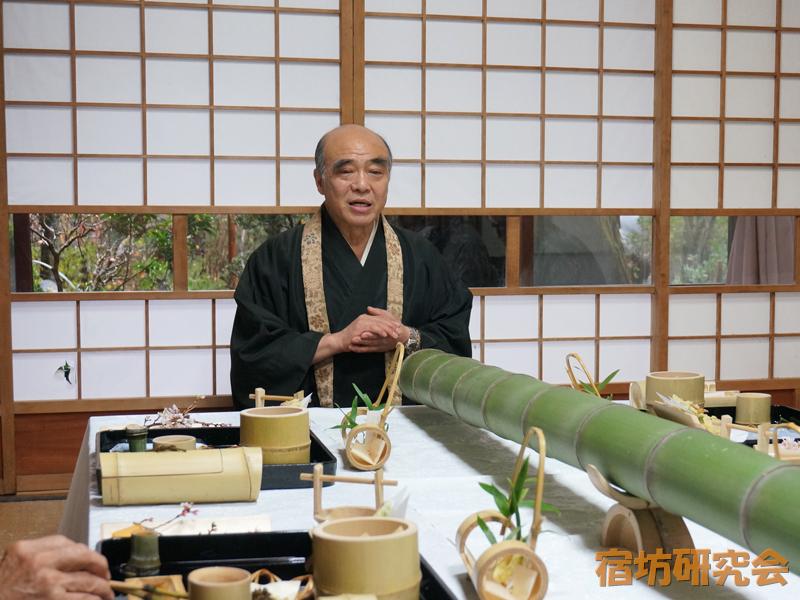 竹寺の住職と精進料理