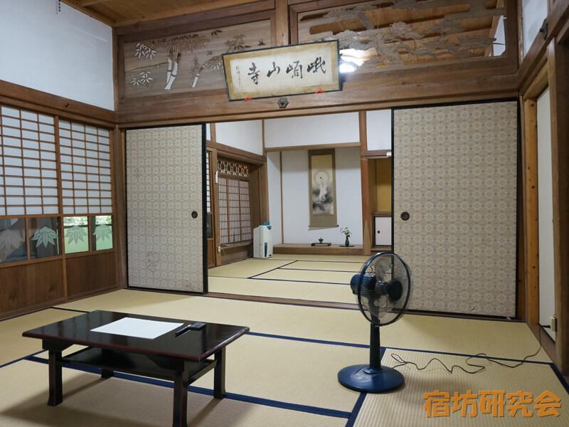 文殊仙寺の客室