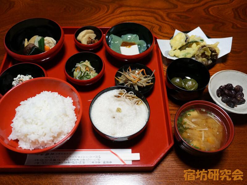 文殊仙寺の精進料理