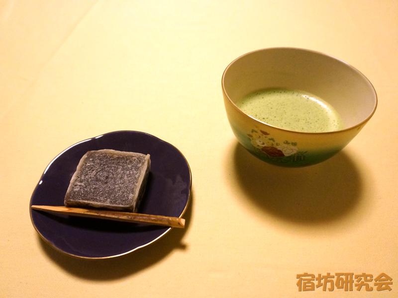 浄慶寺のお茶とお菓子