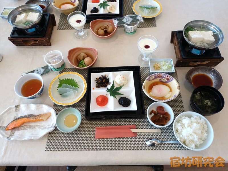 日光東照宮晃陽苑の朝食