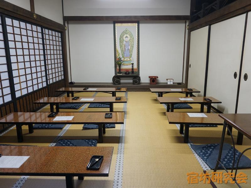 清凉寺の写経室