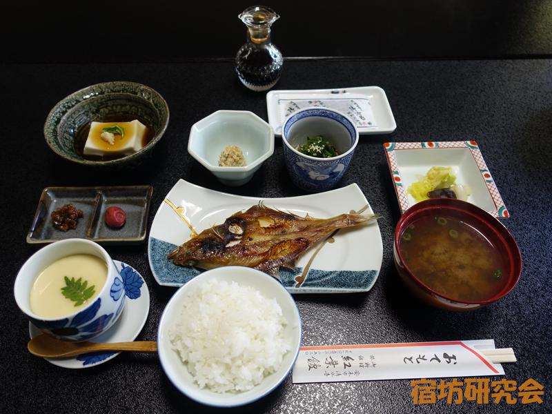 安来清水寺紅葉館の朝食