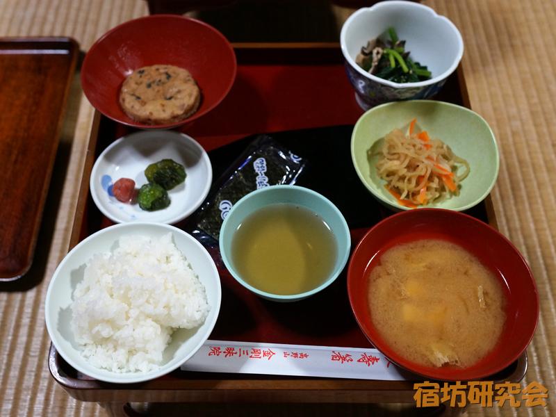 金剛三昧院の朝食