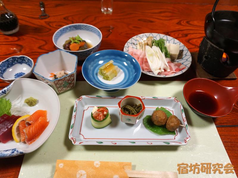 越志旅館の夕食