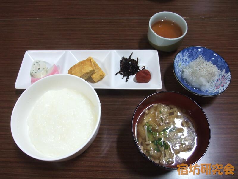 光澤寺の朝食(朝粥)