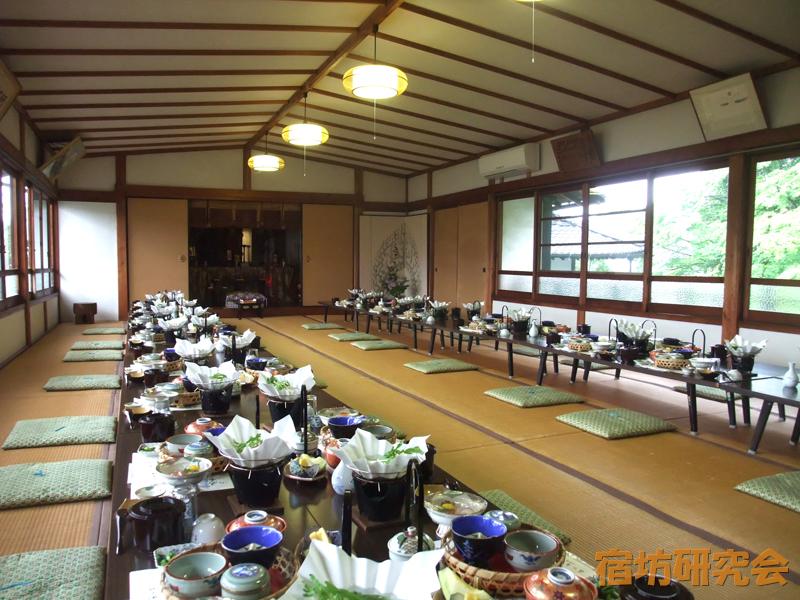 当麻寺中之坊の精進料理部屋