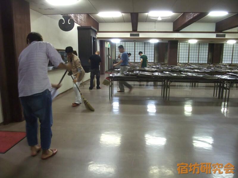 青少年文化研修道場の作務