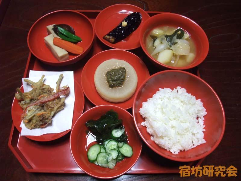 大陽寺の精進料理
