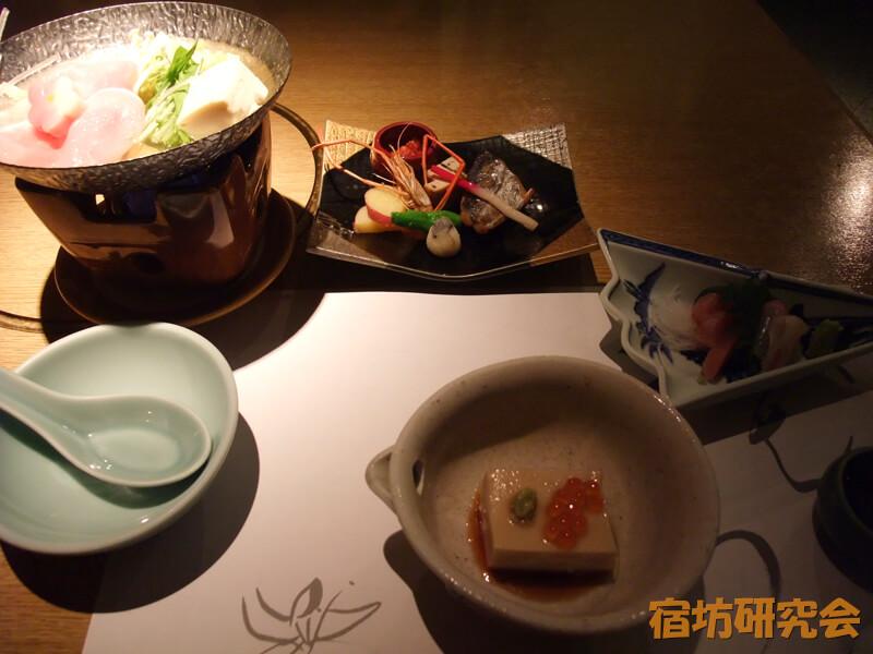 妙心寺花園会館の夕食