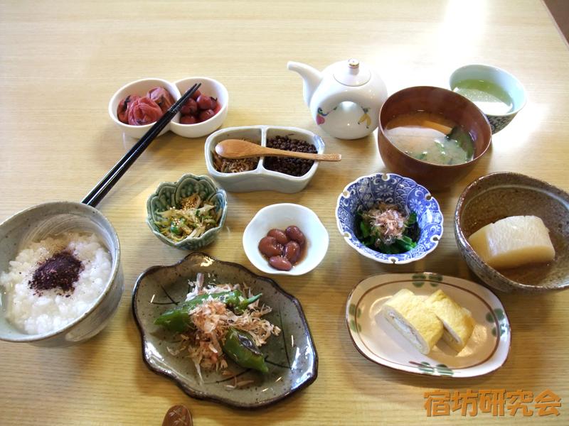 長楽寺遊行庵の朝食