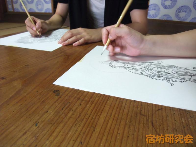 弘仁寺での写仏