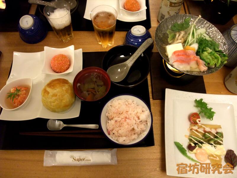 禅の湯の夕食
