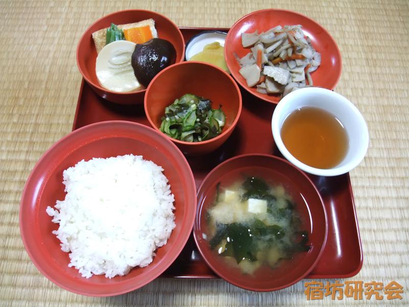 總持寺祖院の薬石(夕食)