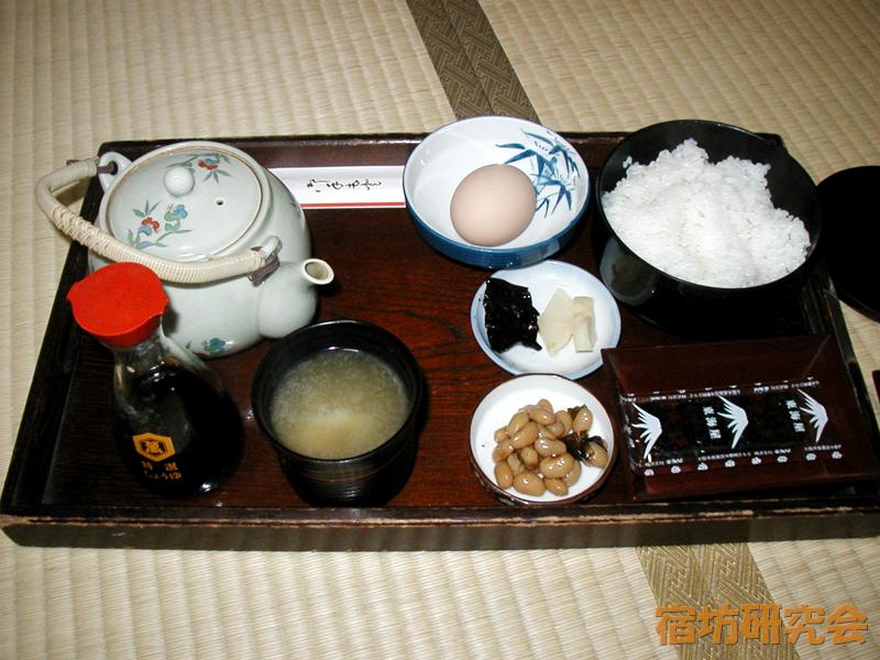 新薬師寺の朝食