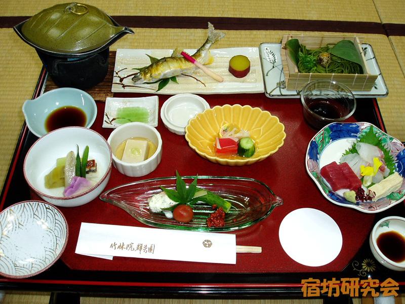 竹林院の夕食