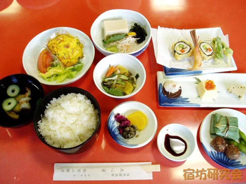 青岸渡寺尊勝院の夕食