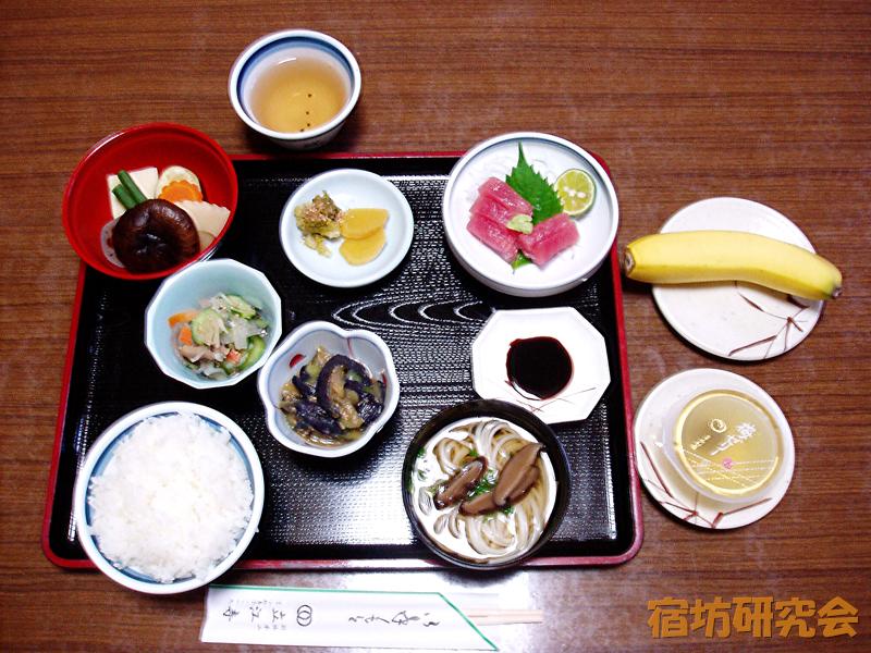 立江寺の夕食
