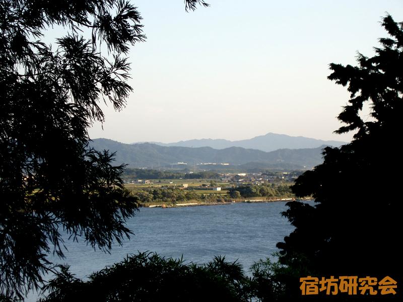 宿坊真静院から見る琵琶湖