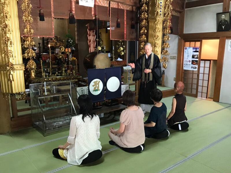 祖聖大寺の阿字観瞑想