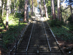 身延山久遠寺の菩提梯