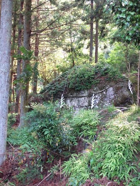 身延山の採石場跡