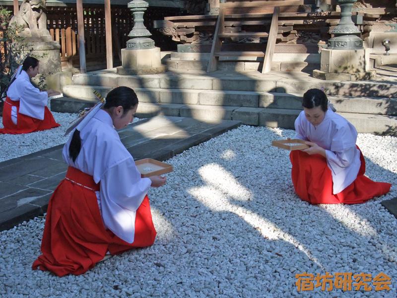 川越氷川神社の巫女さん