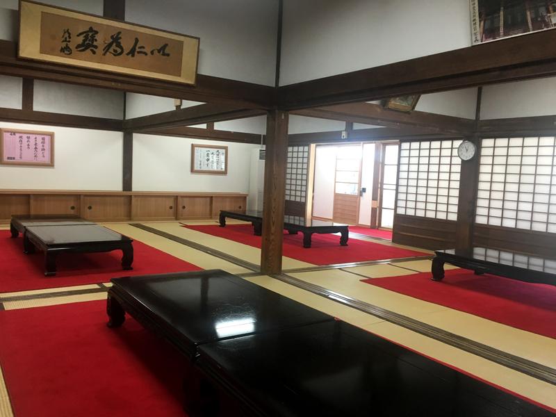 身延山久遠寺の大客殿休憩所