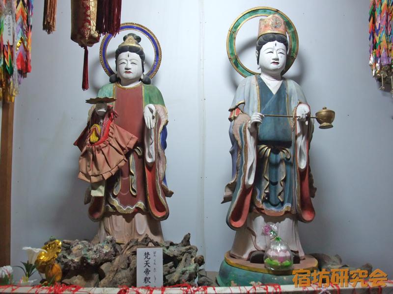 大日坊の梵天と帝釈天