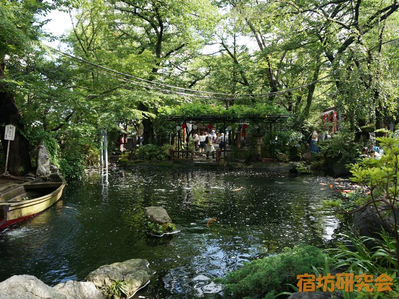 愛宕神社の庭園