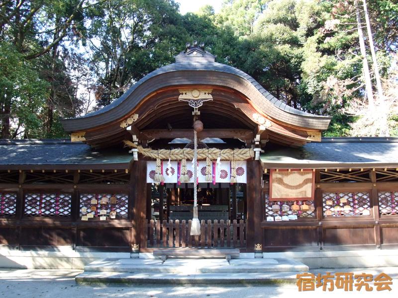 鷺森神社の拝殿