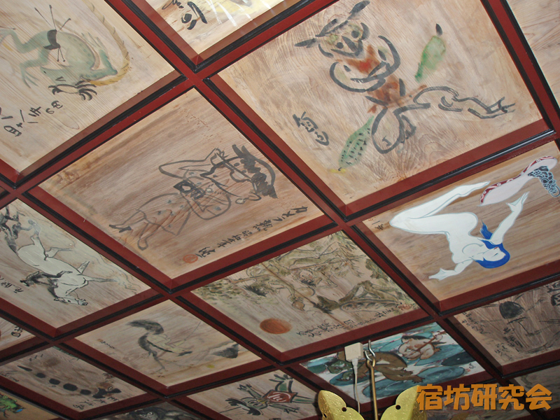 曹源寺の河童天井絵