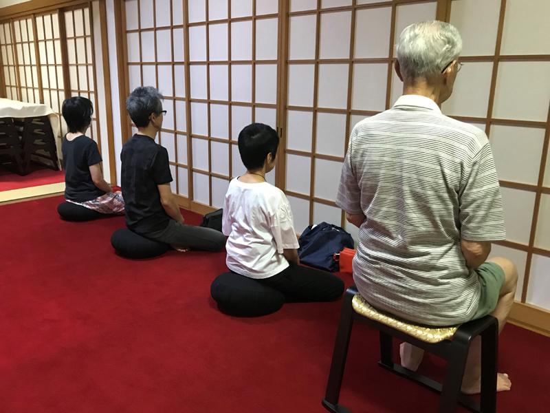 宗圓寺の坐禅会