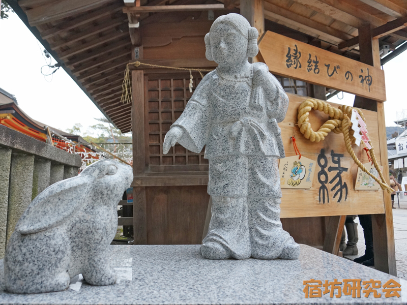 八坂神社の大国主命と因幡の白兎