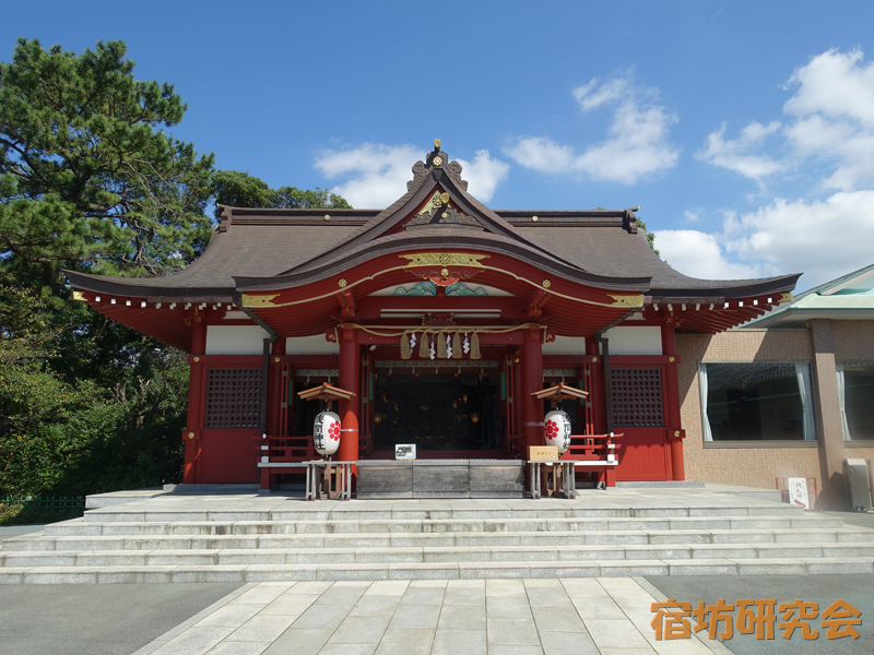 稲毛浅間神社の拝殿