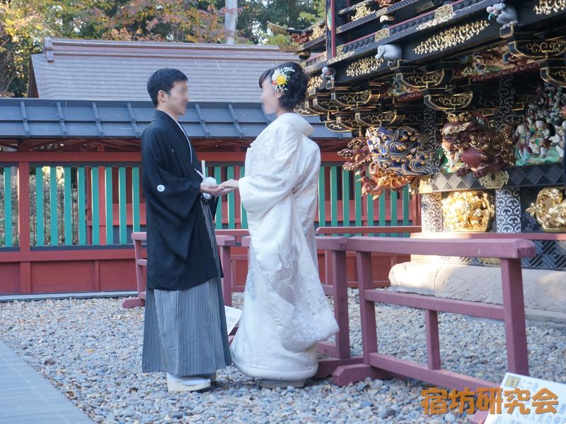 妻沼聖天山の仏前結婚式