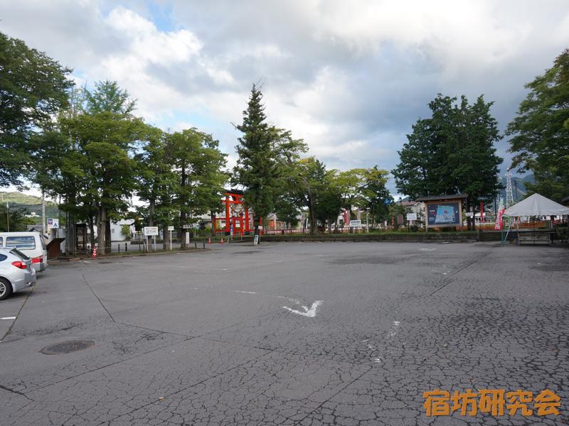 生島足島神社の駐車場