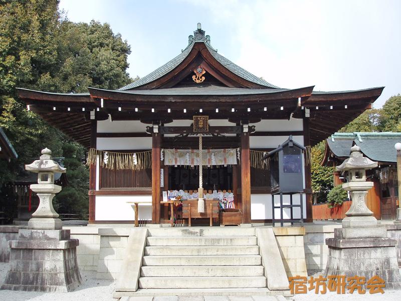 敷地神社(わら天神)の拝殿