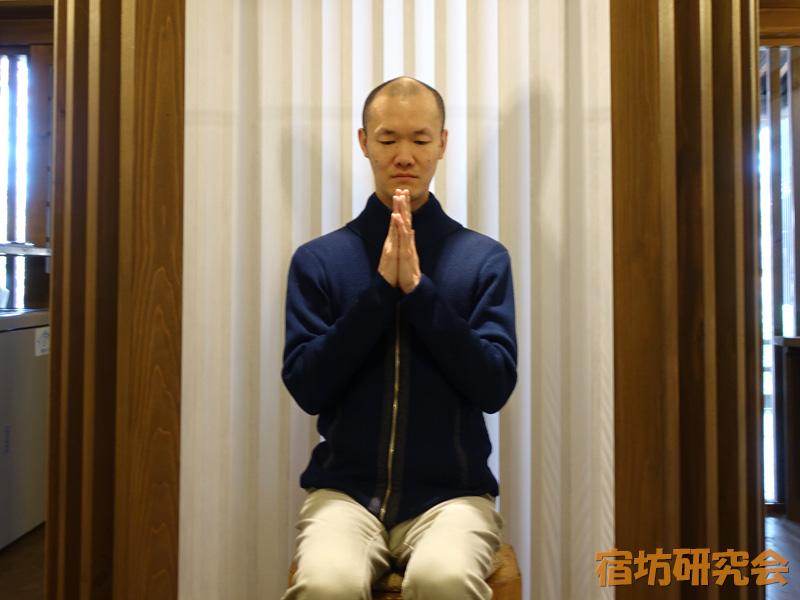立本寺宿坊の瞑想スペース