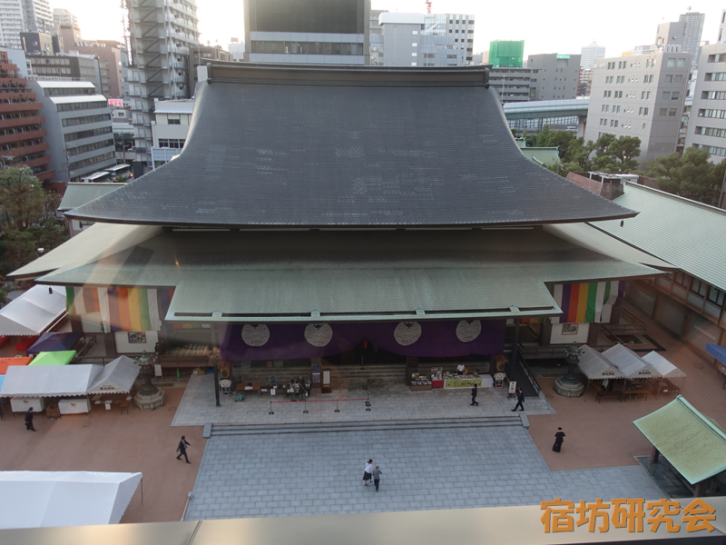南御堂(山門一体型ホテル)からの眺め